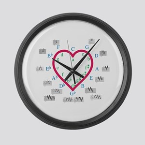 The Heart of Fifths Large Wall Clock