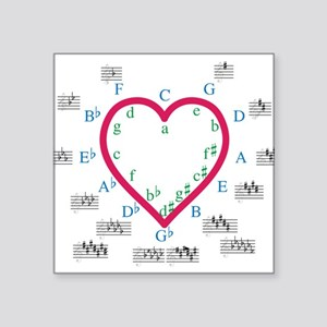 "The Heart of Fifths Square Sticker 3"" x 3"""