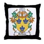 Betham Coat of Arms Throw Pillow