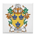 Betham Coat of Arms Tile Coaster
