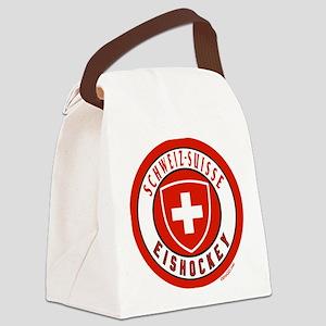 Switzerland Ice Hockey Canvas Lunch Bag