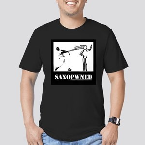 Saxopwned! Men's Fitted T-Shirt (dark)