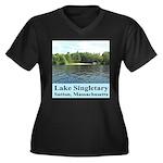 Lake Singletary Women's Plus Size V-Neck Dark T-Sh