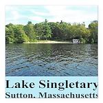 Lake Singletary Square Car Magnet 3