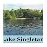 Lake Singletary Tile Coaster