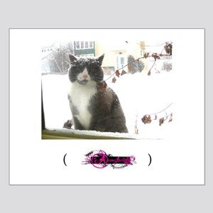 Winter Cat, Small Poster