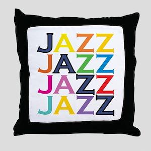 The Jazz Throw Pillow