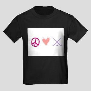 peace love hockey Kids Dark T-Shirt