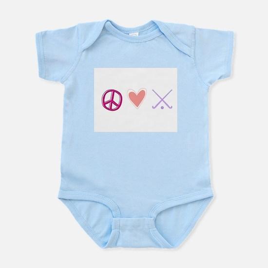 peace love hockey Infant Bodysuit