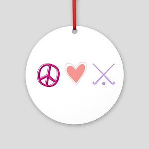 peace love hockey Ornament (Round)