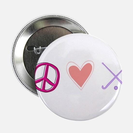 "peace love hockey 2.25"" Button"