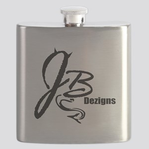 JB Dezigns Logo Flask