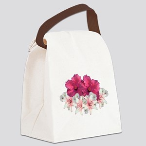 Floral Arrangement Canvas Lunch Bag