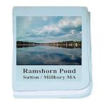 Ramshorn Pond baby blanket