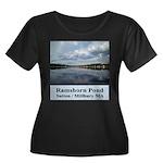 Ramshorn Pond Women's Plus Size Scoop Neck Dark T-