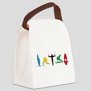 Mens Gymnastics Canvas Lunch Bag