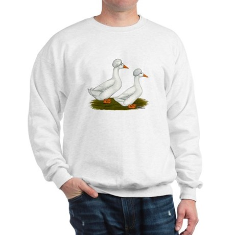 White Crested Ducks Sweatshirt
