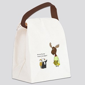 New French Horn Player Canvas Lunch Bag