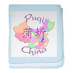 Puqi China Map baby blanket