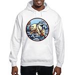 Polar Bear Art Hooded Sweatshirt Wildlife Design