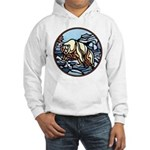 Polar Bear Art Hooded Sweatshirt Wildlife Design