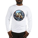 Polar Bear Art Long Sleeve T-Shirt Wildlife Design