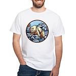 Polar Bear Art White T-Shirt Wildlife Painting