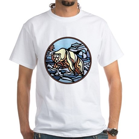 Polar Bear Art White T-Shirt Wildlife Painting