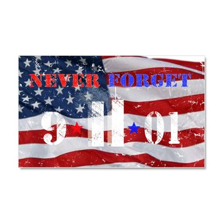 Never Forget 9-11-01 Car Magnet 20 x 12