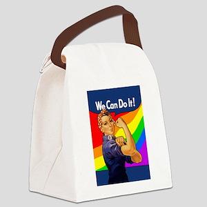 rosie-rainbow_9x12 Canvas Lunch Bag
