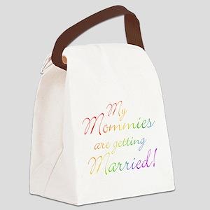gay_wedding_mommies Canvas Lunch Bag