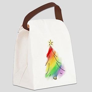 rainbowtree copy Canvas Lunch Bag