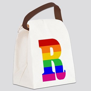 rainbow-letter-r Canvas Lunch Bag