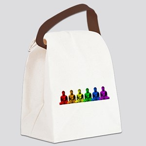 tr_buddhas-rainbow Canvas Lunch Bag