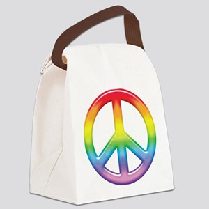 rainbow_peace Canvas Lunch Bag
