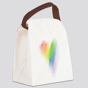 watercolor-rainbow-heart_tr Canvas Lunch Bag