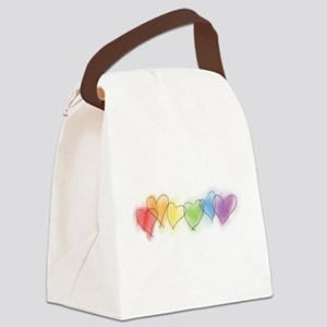 hearts-watercolor-row_tr Canvas Lunch Bag