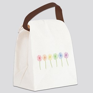 rainbow-gerbera-row_tr Canvas Lunch Bag