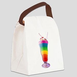 milkshake-rainbow Canvas Lunch Bag