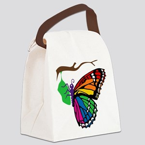 butterfly-emerging_tr Canvas Lunch Bag
