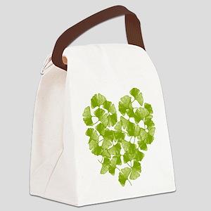 ginkgo-heart_tr Canvas Lunch Bag