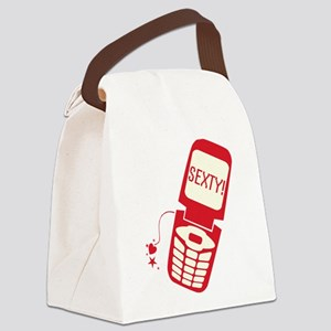 sexty-phone_tr Canvas Lunch Bag