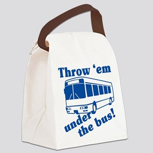 throw-em-under-the-bus Canvas Lunch Bag