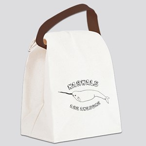3-NARWHALE_TR Canvas Lunch Bag