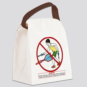 lawn-dart-psa_tr Canvas Lunch Bag