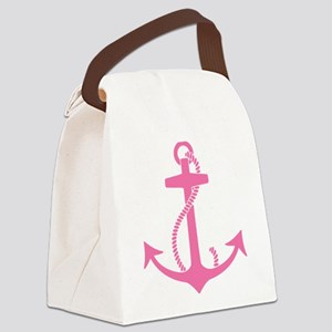 Pink Anchor Canvas Lunch Bag