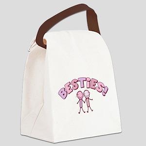 besties-pink Canvas Lunch Bag