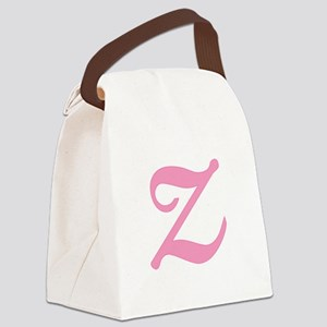 Z-pink-initial_tr Canvas Lunch Bag