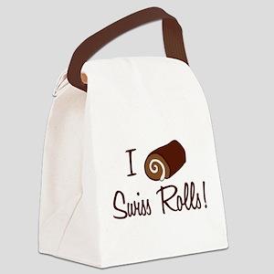 i-love-swiss-rolls_tr Canvas Lunch Bag