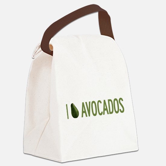 I-Love-Avocados.png Canvas Lunch Bag